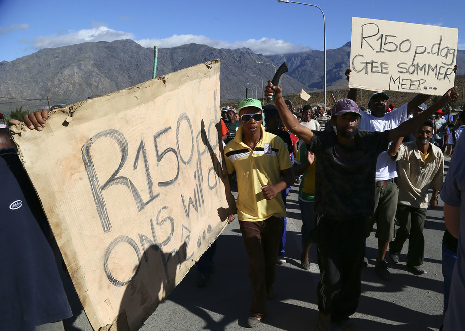 South Africa's national minimum wage could hurt small firms and ruralworkers